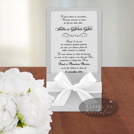Invitatii nunta de vis argintiu