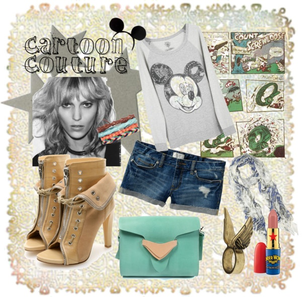 """""""cartoon couture"""" by theacademyofme on Polyvore"""