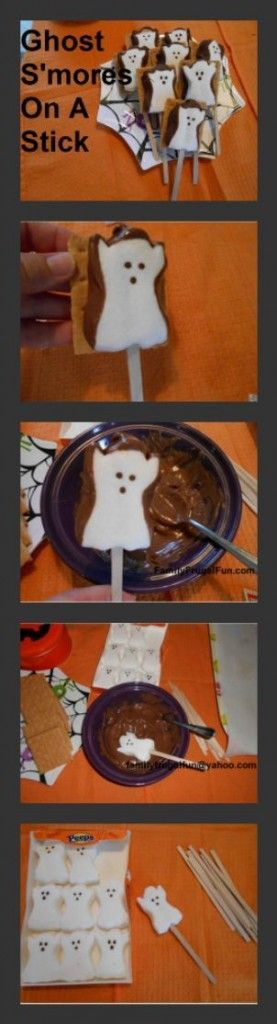 Ghost Smores On A Stick #halloween #smores #ghost #halloweensmores