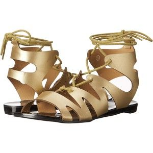 Womens Sandals C Label Flatty-14 Gold