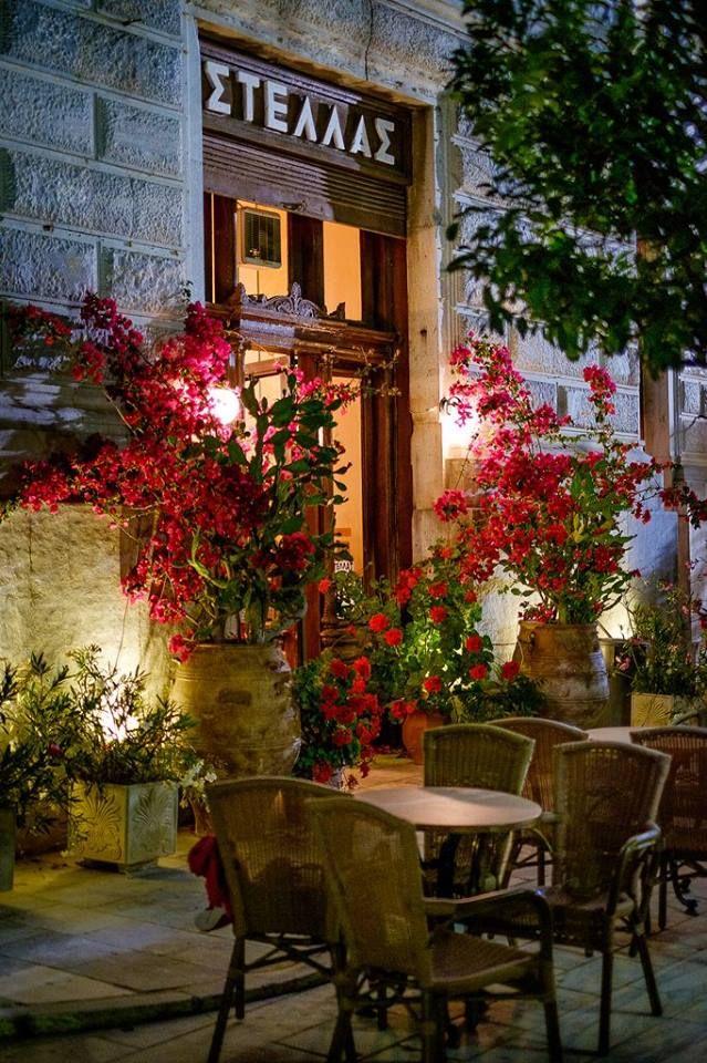 .~Stellas Cafe in Syros Isl, Greece~.