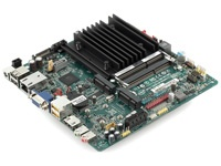 Thin-ITX: Intel DN2800MT Fanless 1.86GHz Dual Core Atom board with 12V DC input, Intel GMA 3650 gfx, up to 4gb DDR3, HDMI out