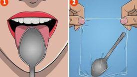 Un moyen simple de vérifier votre état de santé en une minute seulement et en utilisant simplement une cuillère !