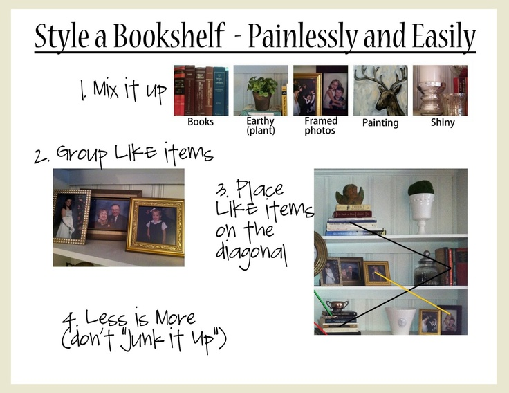 How to EASILY Style a Bookcase