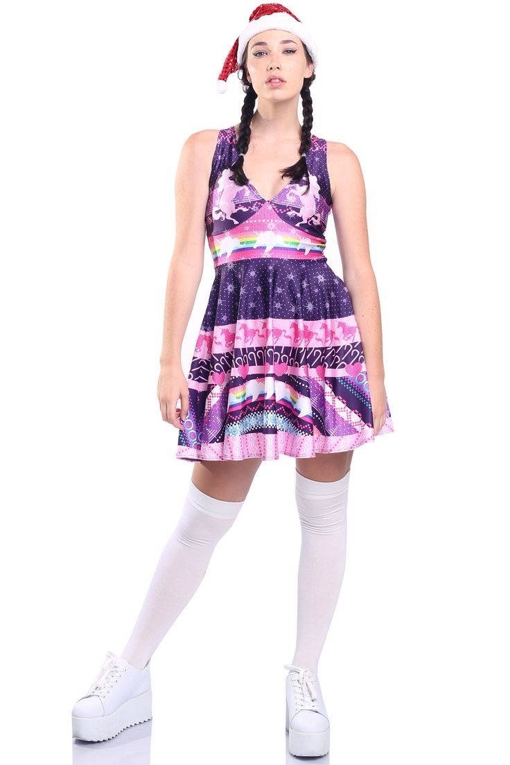 Unicorn Ugly Christmas Happy Hour Dress - $85.00 AUD