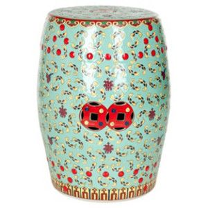 Eastern-inspired ceramic garden stool with a cutout design. Product Garden stoolConstruction Material CeramicColor Red and greenDimensions H x Diameter  sc 1 st  Pinterest & 360 best Ceramic Garden Stools images on Pinterest | Ceramic ... islam-shia.org