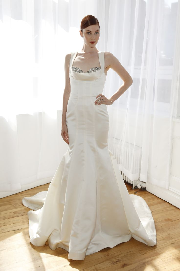 Truly Zac Posen Bridal Spring 2017   #BridalFashionWeek #WeddingDress [Photo: George Chinsee]