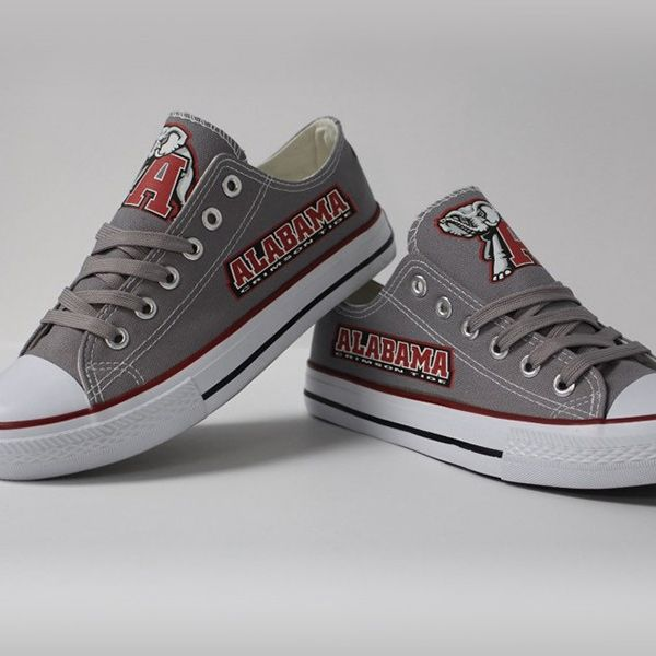 Alabama Crimson Tide Converse Style Shoes - http://cutesportsfan.com/alabama-crimson-tide-designed-sneakers/