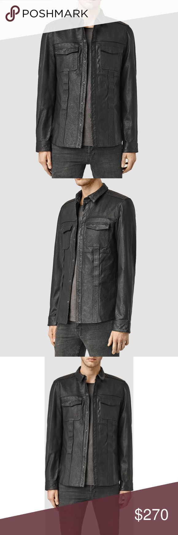 """AllSaints DANGAN LEATHER SHIRT JACKET COAT Small For Sale is a stunning All Saints Black """"Dangan"""" Leather Shirt / Jacket  Brand New with Tags  Get this seasons Jacket for a fraction of the price!  Sizes: Medium available, please select above  Color: Black  Model: DANGAN LEATHER SHIRT All Saints Jackets & Coats"""