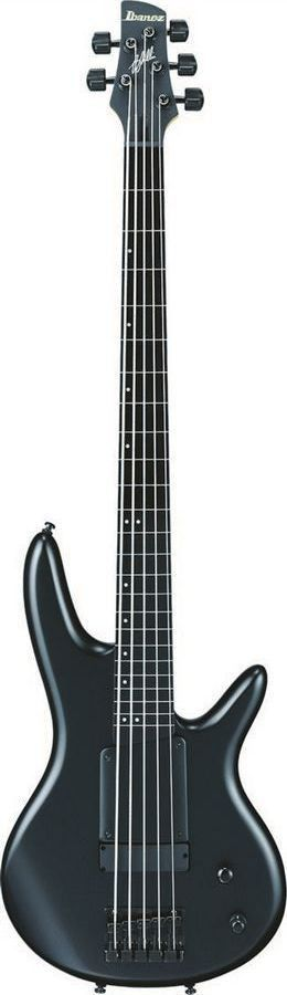 Ibanez GWB1005 BKF in a Black Flat Finish Signature bass guitar form Gary Willis. Brought to you by a leader in guitar manufacturing, Ibanez! Features - Finger Ramp - The detachable finger ramp, desig