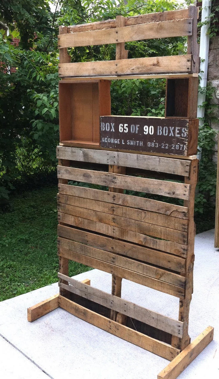 25 best ideas about pallet display on pinterest rustic. Black Bedroom Furniture Sets. Home Design Ideas