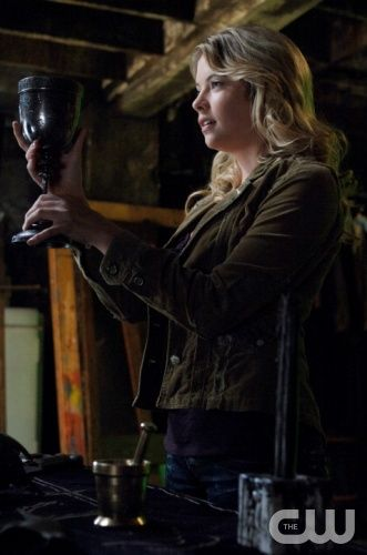"""It's The Great Pumpkin, Sam Winchester"" - Ashley Benson as Tracy Davis in SUPERNATURAL on The CW. Photo: Sergei Bachlakov/The CW ©2008 The CW Network, LLC. All Rights Reserved."