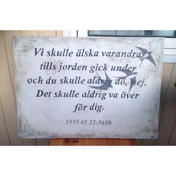 en tavla jag målat till minnet av en fantastisk människa. #håkanhellström #chalkpaint #artbyafo
