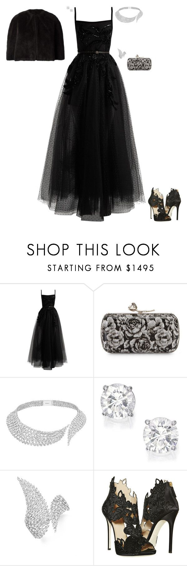 """Beneficial Dance"" by stylev ❤ liked on Polyvore featuring Elie Saab, Lela Rose, Messika, La Perla and Yohji Yamamoto"