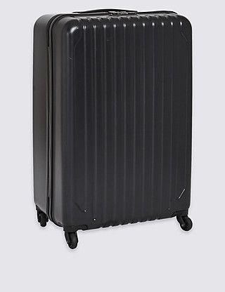 4-Wheel Hard Suitcase with Security Zip & Lock in Large | M&S // 76cm x 51cm x 30.5cm. 5kg, 105L