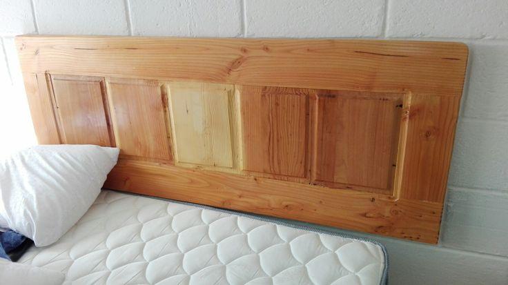 Respaldo cama pino oregon nacional