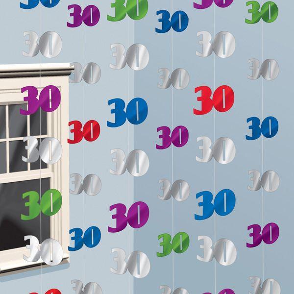 Preciosos decorados colgantes para una fiesta 30 - Ideas para decorar un cumpleanos de adulto ...