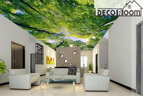 Green Tree Ceiling 2 Wall Paper Wall Print Decal Wall Deco Indoor wall Mural wallpaper