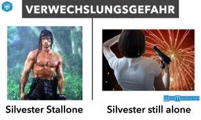 Silvester Witze - Silvester Stallone und Silvester - Still alone