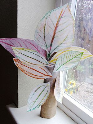 Lovely Leaf Crafts for Kids: Leaf Rubbing Tree (via Parents.com)