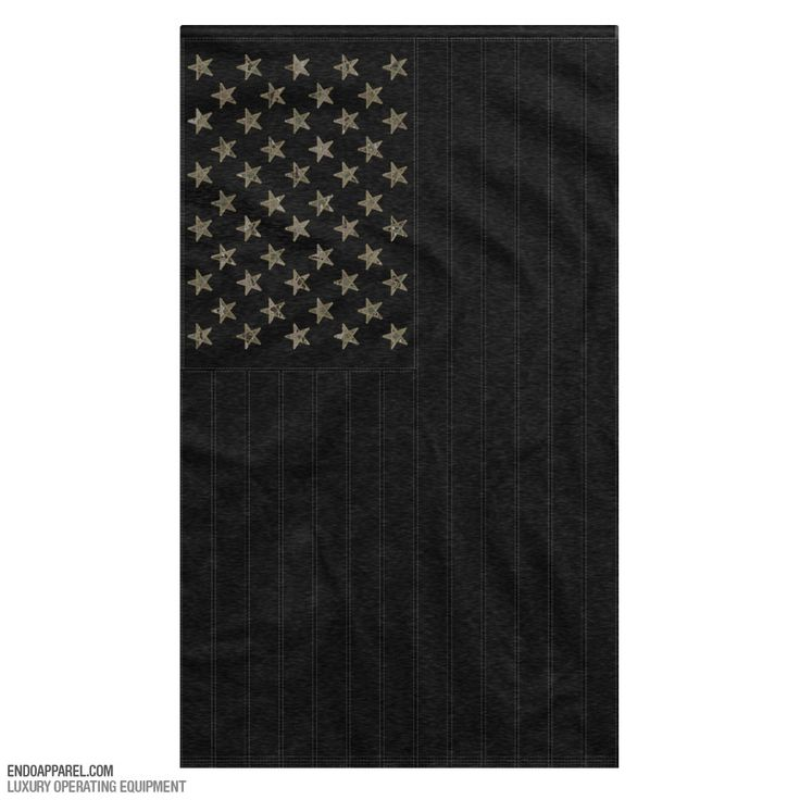 Black American Flag With Multicam Stars
