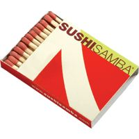Sushi Samba 7, NYC . Circa 2000. BX5 Japanese Produced #matchbox containing 32 sticks. To order your business' branded #machboxes go to: www.GETMATCHES.COM or call 800.605.7331 Today!