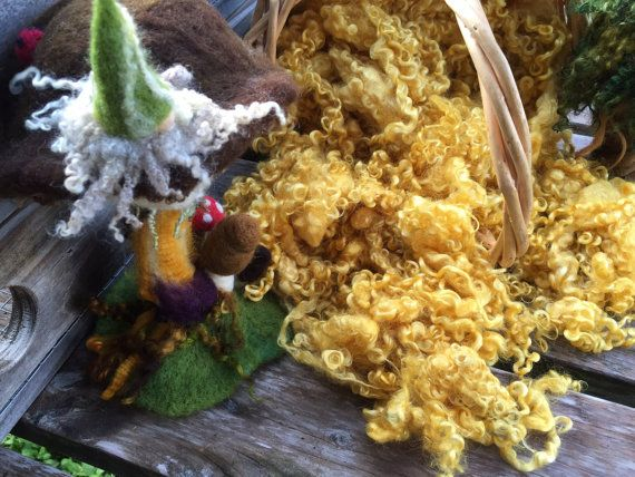 Dyed Wensleydale Locks for Needle Felting by FeltingFarmerLady