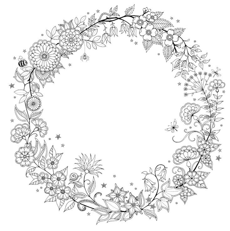 """21 best iColor """"Wreaths"""" images on Pinterest 