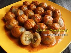Resep Cilok Isi Bumbu Kacang Khas Bandung - Resep Masakan Indonesia Homemade™