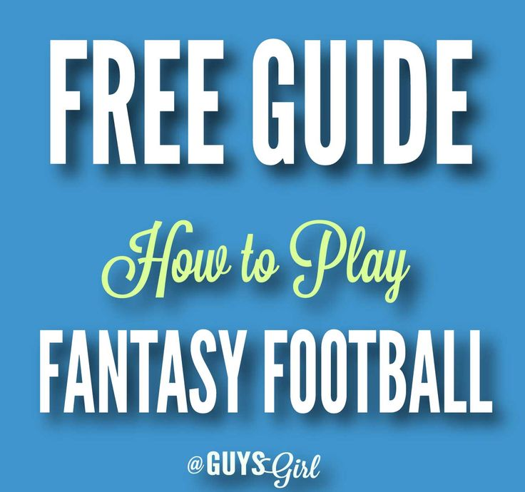Free guide on how to play fantasy football! Even include some bonus draft day worksheets. ALL FREE!