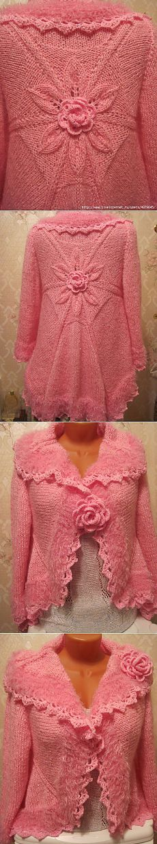 JACKET * ROSE * Knitting from the center - MC.