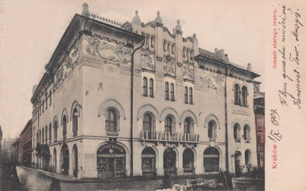 Teatr Stary na widokówce