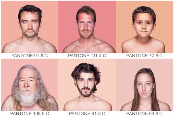 """A superb fuck-ton of skin-tone references. From the project """"Humanae."""""""