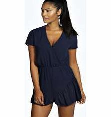 boohoo Chiffon Frill Hem Playsuit - navy azz19268 Show your chic side in this chiffon playsuit , featuring a flirty frill hem for that feminine twist. Wear it with leg-lengthening nude heels , an easy-to-wear envelope clutch and hoop earrings . http://www.comparestoreprices.co.uk/womens-clothes/boohoo-chiffon-frill-hem-playsuit--navy-azz19268.asp