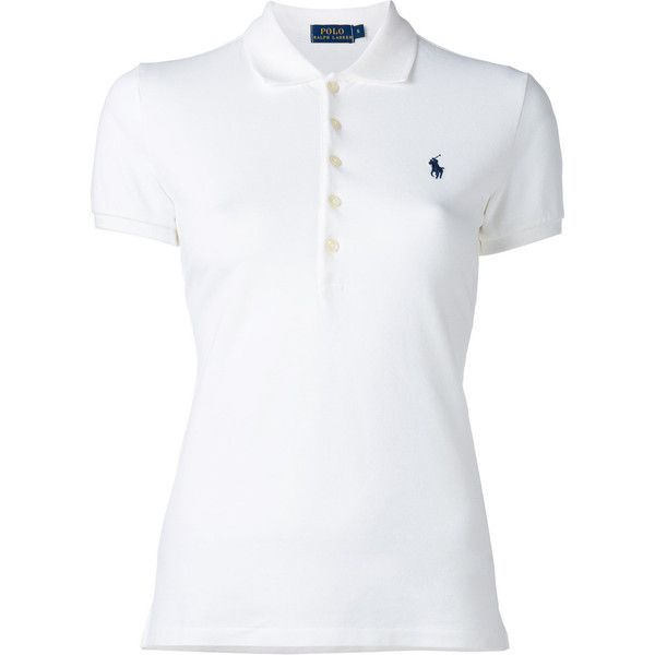 Polo Ralph Lauren Classic Polo Shirt (2 500 UAH) ❤ liked on Polyvore featuring tops, polo ralph lauren, white polo shirt, white tops and polo shirts