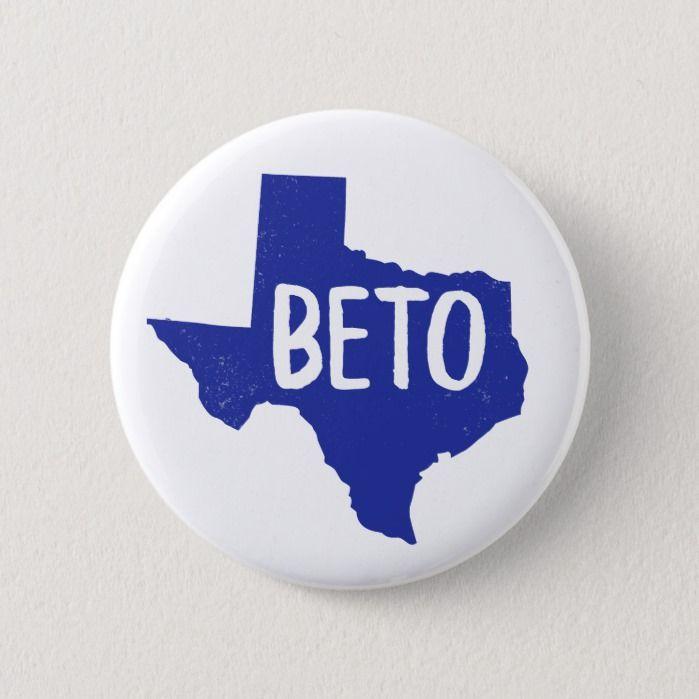 Beto for Senate Texas Vote for Beto Orourke Button, Adult Unisex, Size: ,2 ¼ Inch, Cornflower Blue / Pale Blue