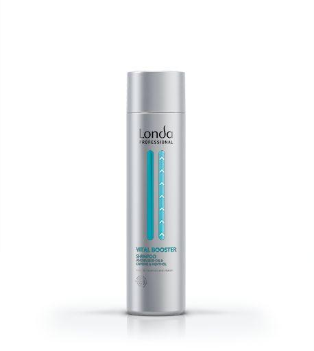 УКРЕПЛЯЮЩИЙ ШАМПУНЬ (1000/250 мл) Мгновенно очищает и быстро освежает кожу головы. Использовать до нанесения сыворотки для защиты от выпадения волос.  ИНГРЕДИЕНТЫ: Масло жожоба, кофеин и ментол / SCALP VITAL BOSTER SHAMPOO