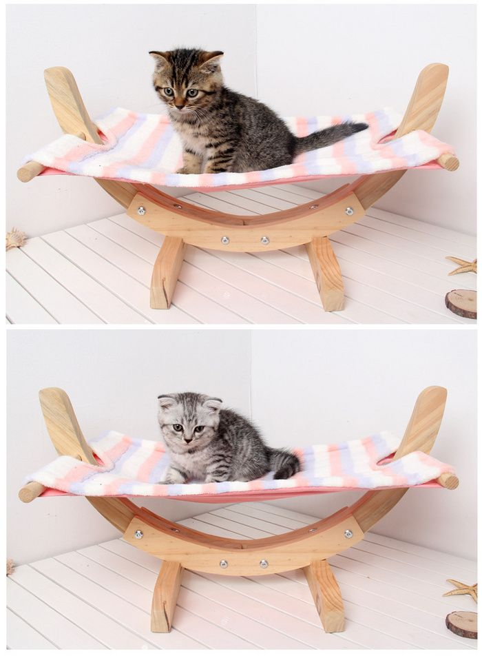 Diy Assembly Swing Bed Solid Wood Mesh Breathable Cat Cradle Pet Supplies Dog Hammock In 2020 Dog Hammock Pet Supplies Pet Hammock