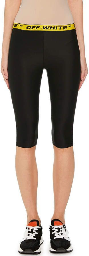 Off-White Logo-Banded Biker Shorts – Products – #Biker #LogoBanded #OffWhite #Pr…   – Women's Style