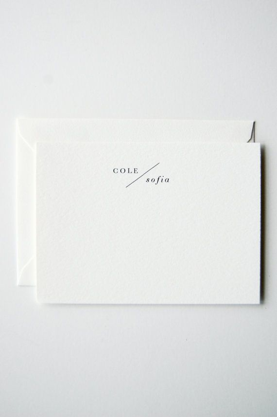 Love love love this // Cole Personalized Letterpress Stationery by inhauspress on Etsy Visit our website at www.firethorne.org! #paper #stationery #notes #design