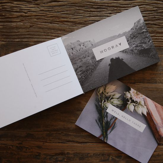 The Postcard Pack by Artifact Uprising | add your own photos and bring back letter writing!