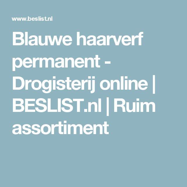 Blauwe haarverf permanent - Drogisterij online   BESLIST.nl   Ruim assortiment