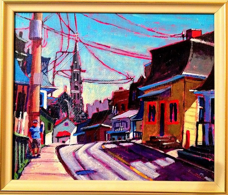 """""""Road to St Anne"""" Acrylic 10 x 12. andrewhamiltonfineart.com."""