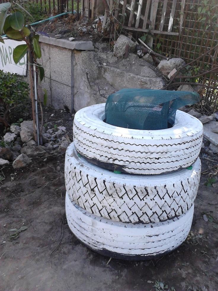 tyre composter in Melissa Garden