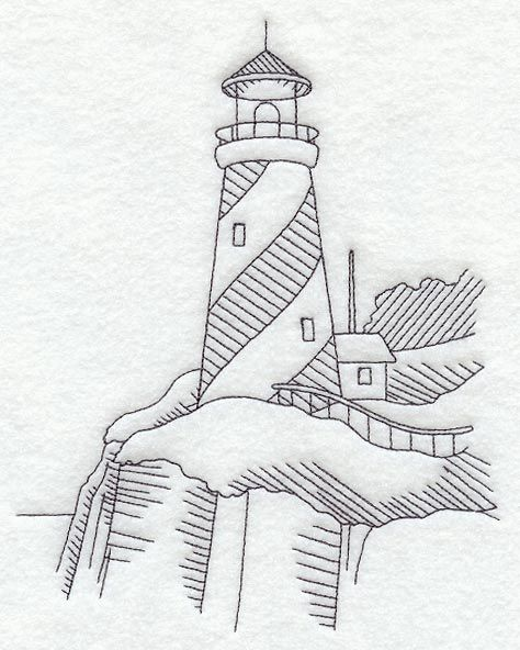 Swirl Stripe Lighthouse