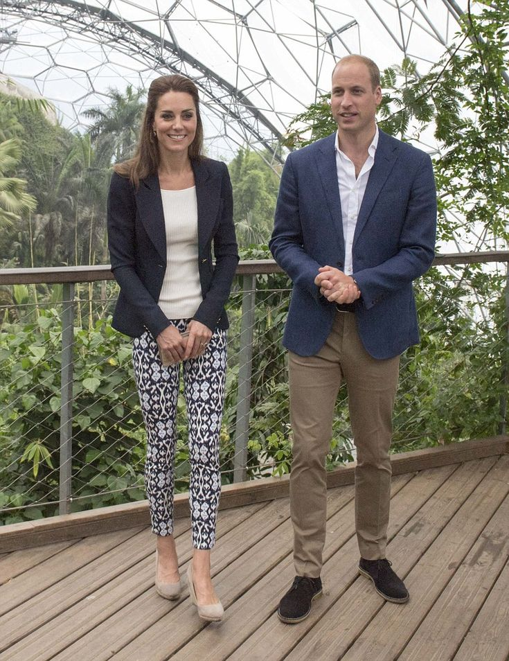 The royal couple spent most of their visit in Rain Forest Biome - September 2, 2016