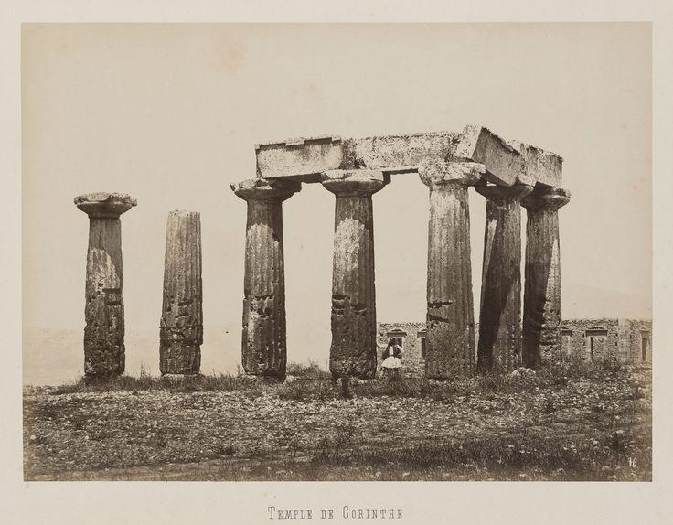 Corinthe. Temple d'Apollon © Musée Guimet, Paris, Distr. Rmn / Image Guimet