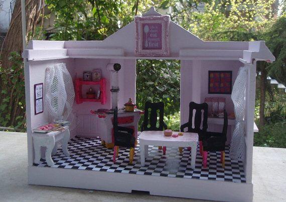 Miniature Pink Pop Art kitchen von minis4you auf Etsy