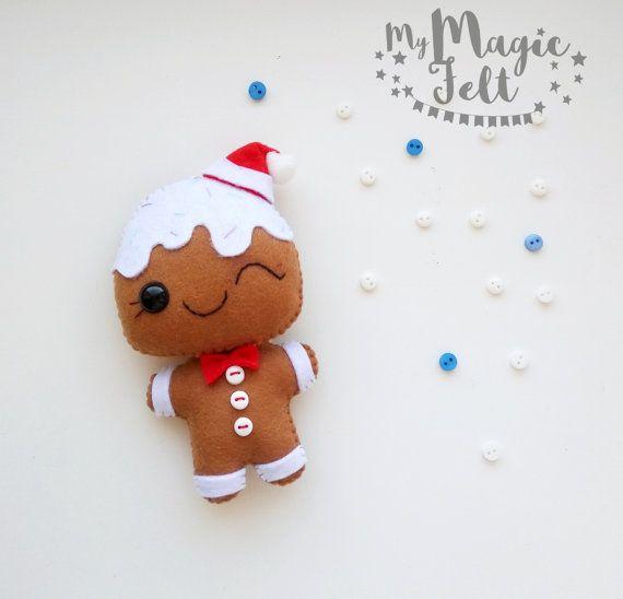 Kerst ornamenten voelde Gingerbread man Christmas decor tree ornament peperkoek nieuwe jaar decoraties kerst geschenken Nativity komst voelde