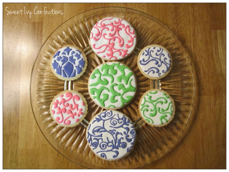 @Sweet Ivy Confections...damask cookies: Damasks, Sweets, Sweet Ivy, Creations, Confections Damask Cookies, Ivy Confections Damask